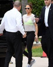 Jennifer Lopez Spotted Outside of Bayfront Park Amphitheater in Miami